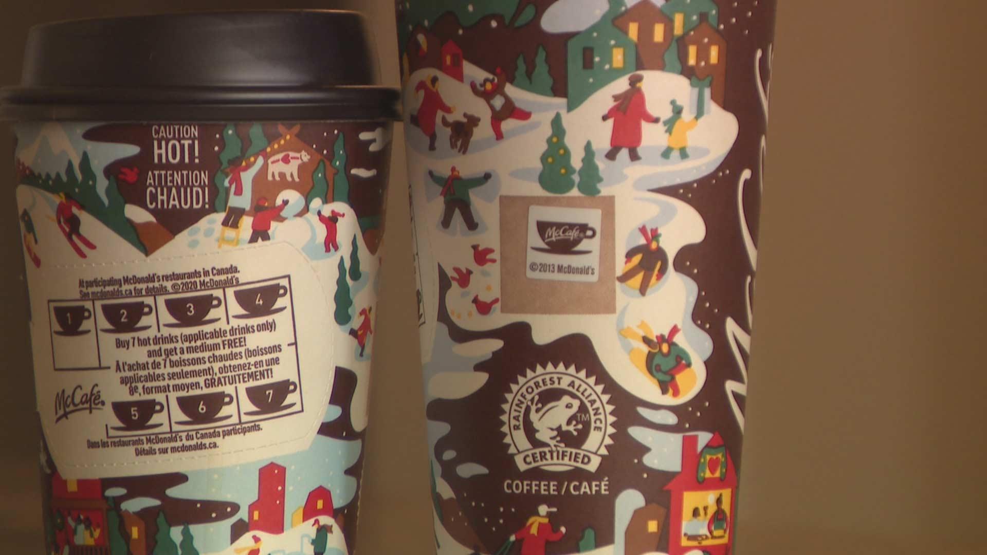 McDonald's festive cups