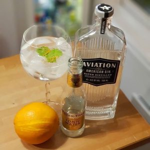 Aviation gin and tonic