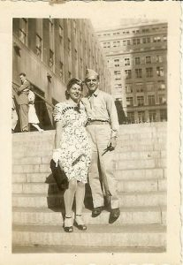 Jack Kirby and his wife Rosalind Goldstein Kirby