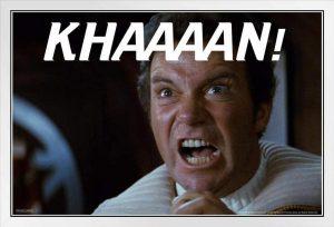 Captain Kirk shouting