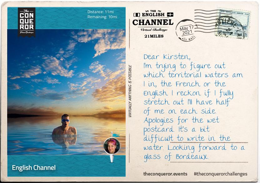 English Channel Postcard