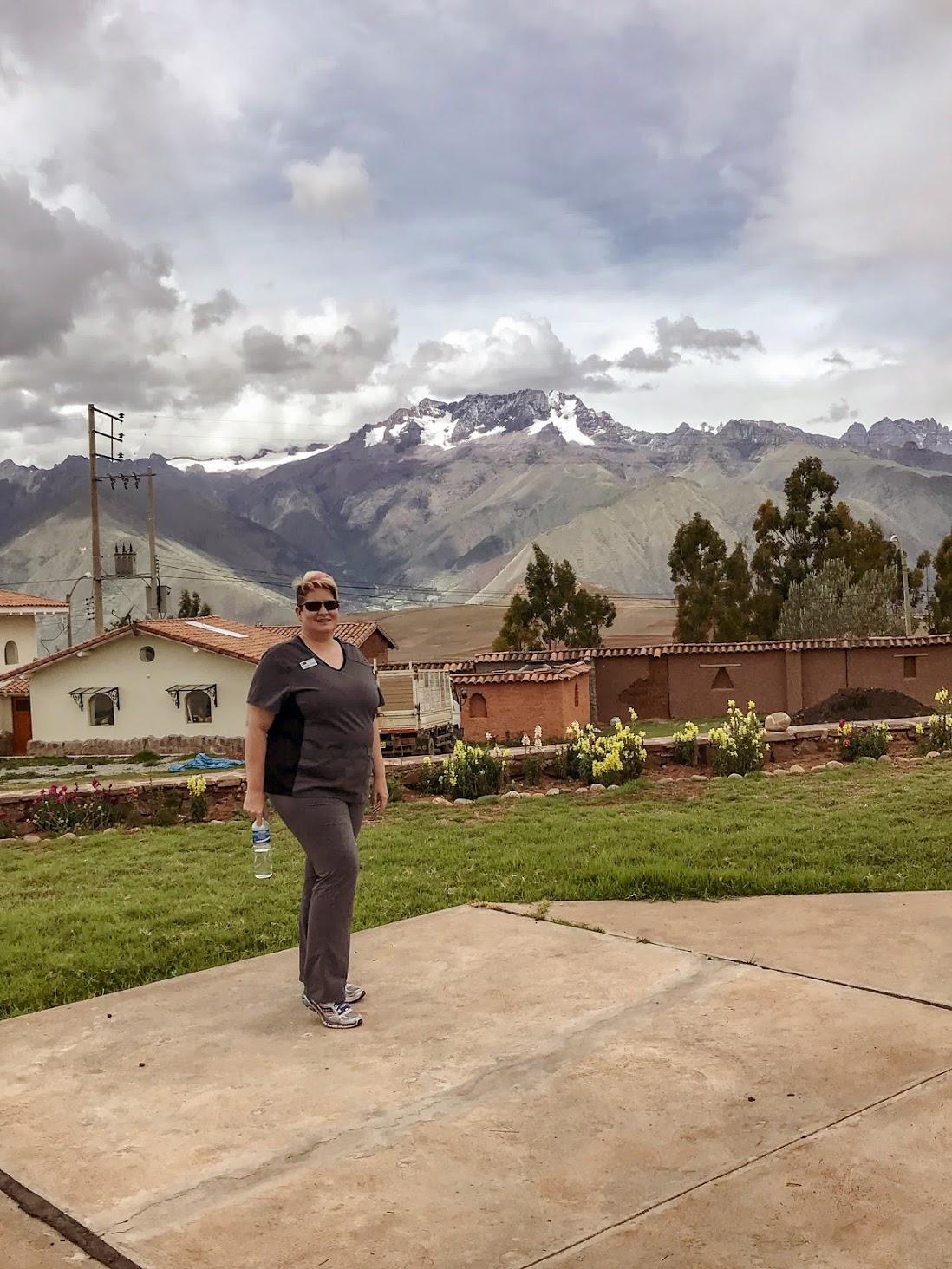 Kirsten not walking the Inca Trail