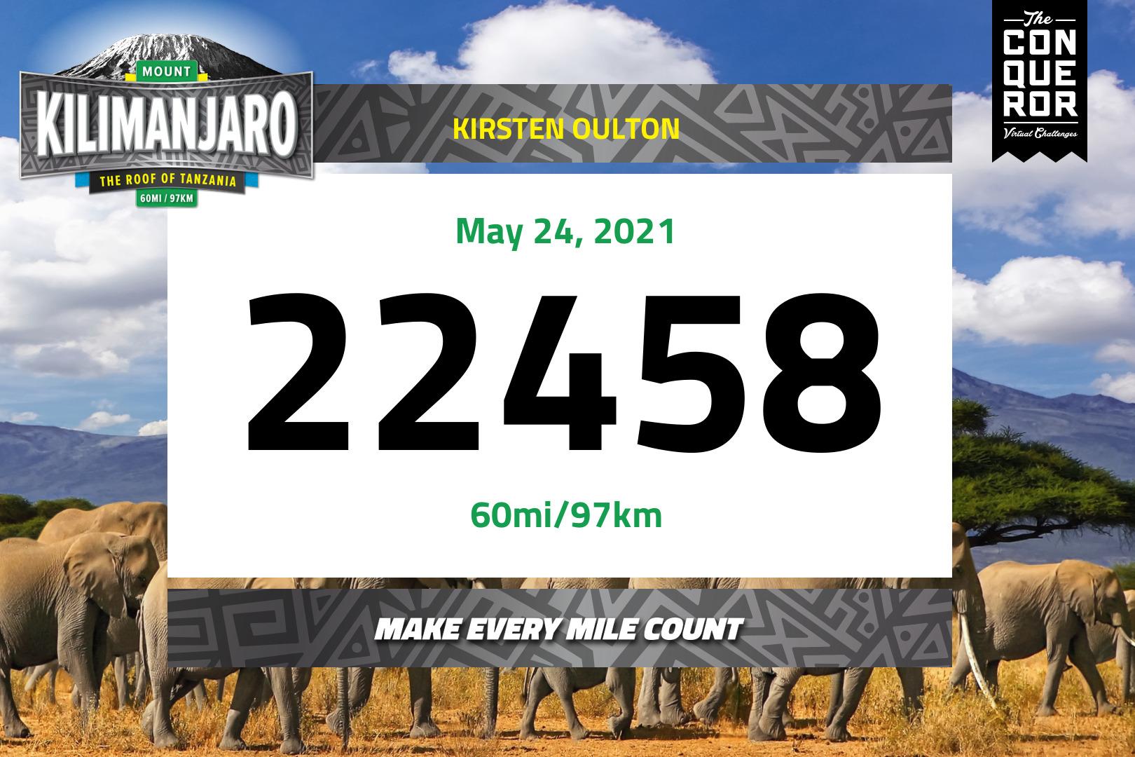 Kilimanjaro Race Bib